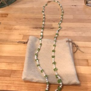 Jewelry - Pearl and Peridot necklace
